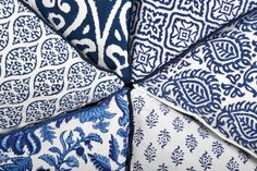 Indigo block print cushion collection - Kalyana Textiles