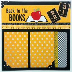Back to school scrapbook page First day of school by ohioscrapper