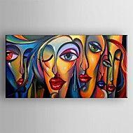 Peint à la main AbstraitClassique / Traditionnel Un Panneau Toile Peinture à l'huile Hang-peint For Décoration d'intérieur – USD $ 142.84