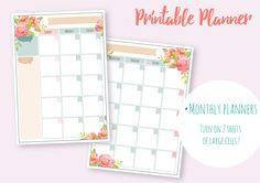 Flower planner - Watercolor Kit! by Fresh-shop on @creativemarket