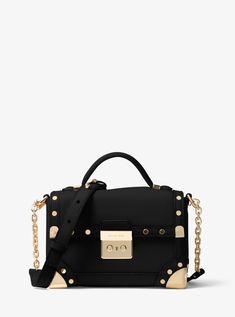 2b138062aa9a5 Cheap Michael Kors Black Cori Small Leather Crossbody Online Store Michael  Kors Shoulder Bag