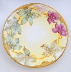 Antique LIMOGES French Porcelain Cabinet Plate Elite Works