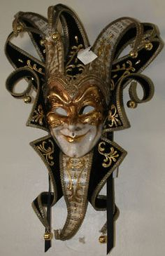 Venetian Mask Black Beige Gold Brocade Mardi Gras | eBay