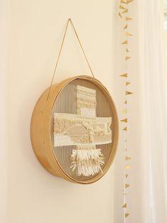 Tissage / DIY / Tamis / Photo Blog Atelier rue verte /
