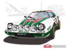 Pix For > Lancia Stratos Wallpapers Car Images, Car Pictures, Sport Cars, Race Cars, Automobile, Garage Art, Car Illustration, Car Posters, Car Sketch