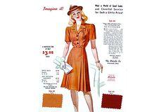 Orange Fashion Print w/ Fabric Samples