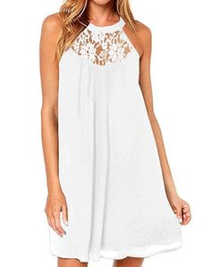 Casual White Beach Dresses: If you're looking for a super flattering casual white dress for your next vacation or summer party, you've come to the right place. Long summer dresses as well as short and sassy beach dresses. Flowy Dress Casual, Edgy Dress, Casual Dresses, Flowy Dresses, Sexy White Dress, White Dress Summer, Long Summer Dresses, Beach Dresses, Beach Outfits
