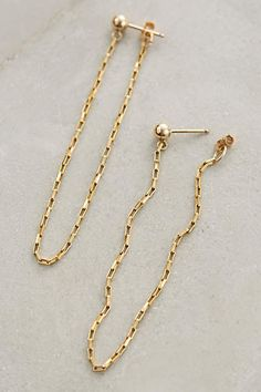 Chained Hoop Earrings - anthropologie.com