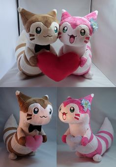 My Dearest Furret Plushies by makeshiftwings30.deviantart.com on @DeviantArt