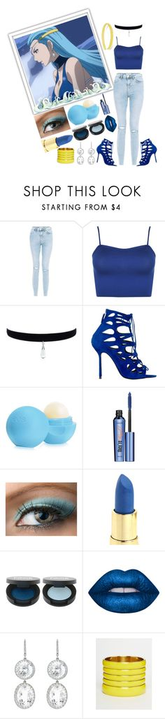 """Aquarius Fairy tail / Lucy celestial a spirit / Zodiac"" by stormtrooper117 ❤ liked on Polyvore featuring WearAll, Marskinryyppy, Eos, Benefit, FACE Stockholm, Lime Crime, Andrea Fohrman, ASOS and France Luxe"