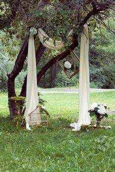 Декорации созданные нами ,для свадебной церемонии в общественном парке.