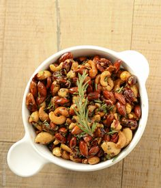TweetI've given mixed party nuts a great new makeover. Perfect last minute recipe to bring to your New Year's Eve party. Warm, buttery, mildly spicy, slightly sweet, salty & full of rosemary flavor. It has all the best flavor bases covered. These are a hit when set out at a cocktail party and come together in less than 15 minutes. …
