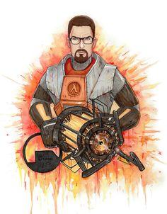 Gordon Freeman by PlumpOrange #halflife #gaming