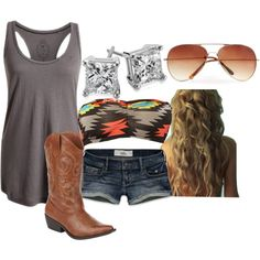 """""""Summer at the lake"""" by small-town-country-girl on Polyvore  I love this idea!"""