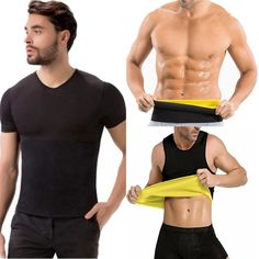 99b58859b3c Men s Sweat Vest Shaper Shirt Hot Thermo Slimming Sauna Suit Weight Loss  Ultra Neoprene Waist Belts
