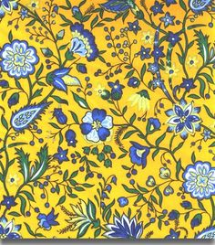 """Fabric Provence Design - Yvette Yellow 70"""" Wide.  This one is a favorite."""
