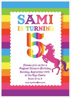 Rainbow Birthday Printable Party Suite 3000 Via Etsy Unicorn