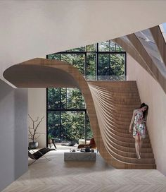 impressive staircase design inspirations for your house 19 Interior Design Inspiration, Home Interior Design, Interior Architecture, Interior Decorating, Staircase Architecture, Design Ideas, Architecture Plan, Staircase Interior Design, Architecture Colleges