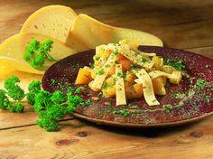 Recepten - Salade van Passendale kaas, perzik en ananas met mosterdsaus