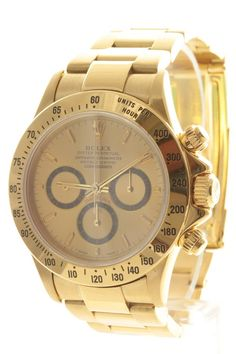 #Rolex Daytona gents 18ct yellow gold luxury watch and oyster bracelet. Watch features a champagne dial and automatic movement.