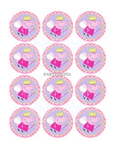 Peppa Pig Use as cupcake toppers, stickers, party decorations, scrapbook elements etc! Peppa Pig Birthday Cake, 3rd Birthday, Birthday Wishes, Invitacion Peppa Pig, Cumple Peppa Pig, Fairy Cupcakes, Summer Cupcakes, Pig Party, Bottle Cap Images