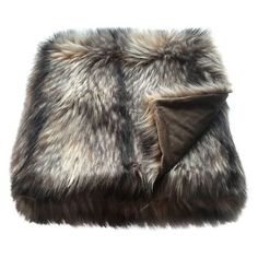 Throw for texture in master bedroom   Raccoon Faux Fur Throw Blanket -  Threshold™   Target 08bbb15f4b