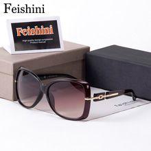 b2c6f7be7 FEISHINI Estrela Estilo Contratada Óculos Das Mulheres Óculos De Sol UV400  Bela Simples Fácil Oculos Designers