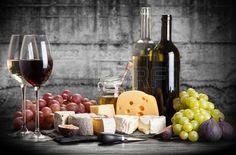Wijn en kaas still life Stockfoto