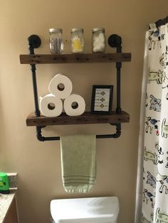 Reclaimed Barn Wood Bathroom Shelves - Thanks for looking at this creation! All CaseConcepts wood comes from reclaimed b - Barn Wood Bathroom, Bathroom Wood Shelves, Bathroom Storage, Glass Shelves, Wood Shelf, Bathroom Ideas, Door Shelves, Bathroom Black, Ikea Bathroom