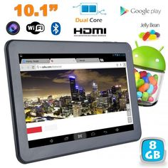 Tablette tactile Android 4.2 10 pouces Dual Core Bluetooth HDMI. http://www.yonis-shop.com/tablette-tactile-10-pouces/2017-tablette-tactile-android-4-2-10-pouces-dual-core-bluetooth-hdmi-8-go.html