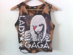 Lady Gaga / Crop Top / Half Top / Belly Top / Muscle by CrashNRise, $18.00