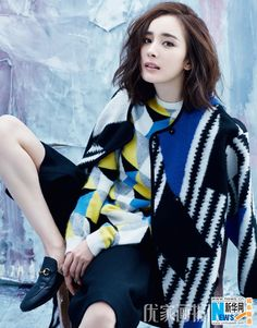 Chinese actress Yang Mi  http://www.chinaentertainmentnews.com/2015/12/yang-mi-covers-modern-lady.html