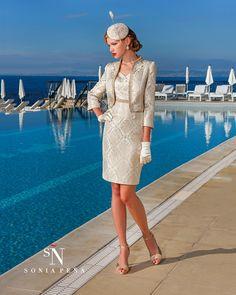 Vestidos de Coctel 2016. Colección Primavera Verano 2016. Sonia Peña - Ref. 1160065 Conjunto<br>Ref: 1160064 Vestido