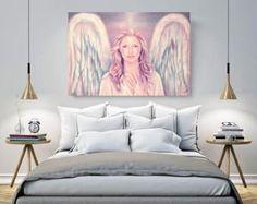 Schutzengel, Engel, Ölgemälde, Frau, Esoterik, Figurative Kunst, Leinwand, Liebe, Energie ,Gemälde,Mistik,mystisch, Geborgenheit