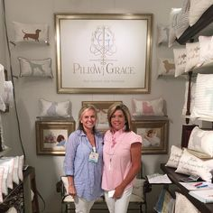 So proud of our sweet friends at @pillowgrace ! Today was their first day at market after several years hard work building their brand. #tfssi @americasmartatl  #pillowgrace  #highdesign #godsgrace #restassuredariserestored