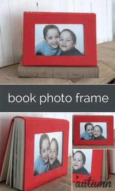 Book DIY Picture Frame-Unique DIY Picture Frame Ideas