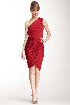 Halston Heritage One Shoulder Ruched Dress on HauteLook