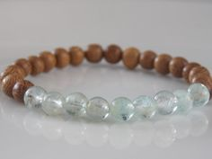 Stretch Beaded Bracelet with Semi Precious by MalieCreations, $14.95