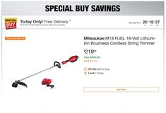 Home Depot Deals – Up to off Select Milwaukee Power Tools and Accessories Milwaukee Power Tools, Milwaukee M12, Specials Today, Power Tool Accessories, Hole Saw, Day Up, Tool Kit, Home Depot, The Selection