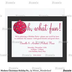 Modern Christmas Holiday Party Invitations