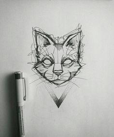 Tiere Katze - # animals - tattoo etc . Animal Art, Sketches, Animal Drawings, Art Drawings, Art Tattoo, Drawings, Cat Art, Artwork, Cat Tattoo