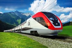 Bombardier Double-deck train, Switzerland A picture from an animation of the new train from Canada's Bombardier Inc, one of the world's leading rail equipment manufacturer, is shown in this handout photo. Bombardier Inc won an order for 59 double-deck By Train, Train Car, Train Tracks, Train Rides, Zug Wallpaper, Train Wallpaper, 1080p Wallpaper, Desktop Wallpapers, Wallpaper Downloads
