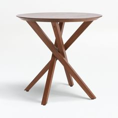 Apex Round End Table + Reviews   Crate and Barrel Oval Coffee Tables, Round Dining Table, A Table, Table Bases, Coffe Table, Console Table, Apex Furniture, Unique Furniture, Accent Furniture