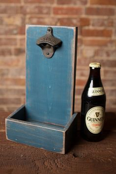 Beer Bottle Opener and Cap Catcher  Atlantic Blue by TheHenryHouse