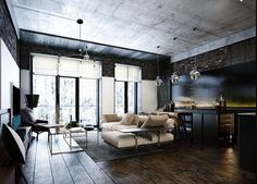How To Design Industrial Style Bachelor Pads: 4 Examples