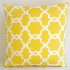Cushion Yellow 'Hampton Bays' cover only by Hamptons Style