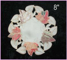 """Maple Doilies, Sizes 8"""",12"""",16"""",or 24"""", Selected By Clicking """"4 New"""" Beside the Product Photo by Shenhai. $3.00. 100% Polyester. Machine Washable. European Style. Perfect decoration for the tables in any room. There are different sizes of maple doilies with different prices. Please measure your table to choose the proper one."""
