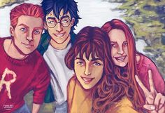 They needed a selfie together! Happy Birthday Hermione!