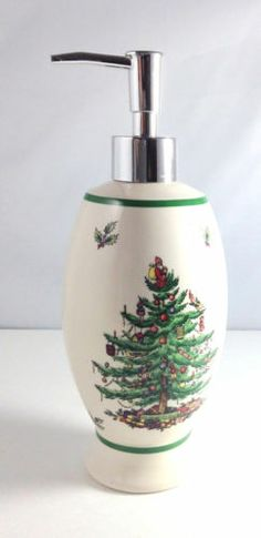 Spode Christmas Tree Soap Lotion Dispenser   I have this.