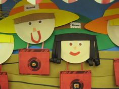 These self protraits could be used for open house for a safari or travel theme!